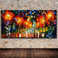 Handmade Modern Home Decor Wall Art Oil Painting Tree Street Women On Canvas Acrylic Pricture Gift