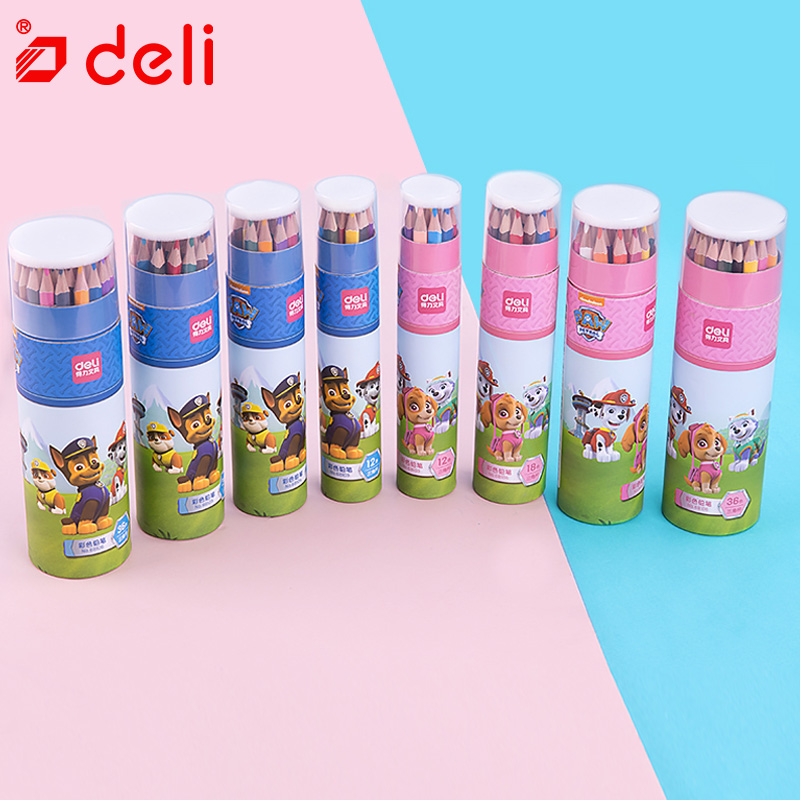 Deli Color Pencil Set Stationery Drawing Painting Pencils For Children Gift 12/18/24/36 Sketch Art Pencil School Office SuppliesDeli Color Pencil Set Stationery Drawing Painting Pencils For Children Gift 12/18/24/36 Sketch Art Pencil School Office Supplies