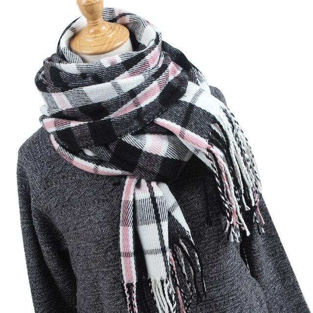 3de506a37f59 Hiver foulards pour femmes Cachemire Coton costume d hiver Épaissir Foulard  Femmes Châle Dames Doux Confort Écharpe foulards à carreaux YR004€ 7,47