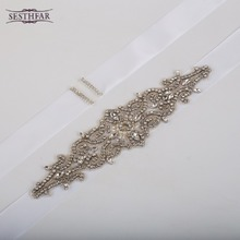 Free Shipping Hot Sale Elegant Rhinestone Vintage Crystal Wedding Party Bride Bridesmaid Belt Dress Flower Sash Accessories