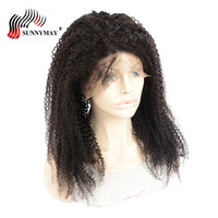 Sunnymay Afro Kinky Curly Full Lace Human Hair Wigs Pre Plucked Brazilian Virgin Hair Full Lace Wig With Baby Hair