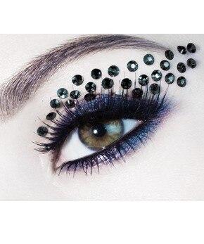 FAST DHL 300 Pairs Novelty Temporary Eye Rock Tattoo Sticker/Eyelip Crystal Tattoos Professional Makeup