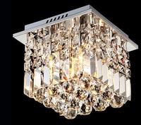 [ZYY] Moderne Minimaliste LED Cristal Plafonnier Cristal Entrée Lumière Couloir Allée Lampe Carré Cristal Plafonniers