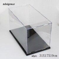 Plexiglass cover dust box transparent assembled acrylic transparent hand display box 31*17*19cm