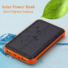 Solar Replacement Batteries for Dual USB Phones Replacement Batteries 30000 mAh Waterproof Power Bank Bateria External Portable