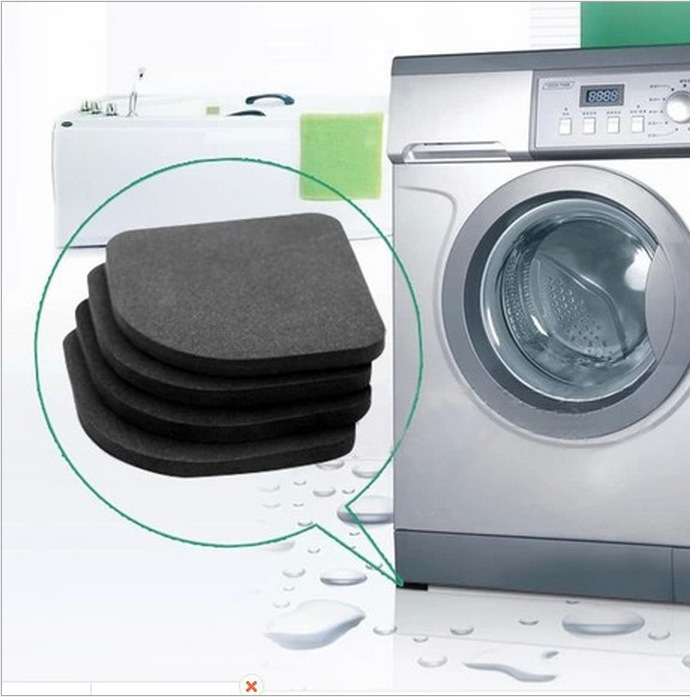 1set Multifunctional Refrigerator Anti-vibration Pad Mat For Washing Machine Shock Pads Non-slip Mats Set Bathroom Accessories Bathroom Accessories Sets