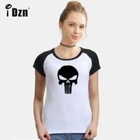 Summer Women T Shirt Retro Art Style Frank Castle Punisher Skull Marvel Monster High Group Skull