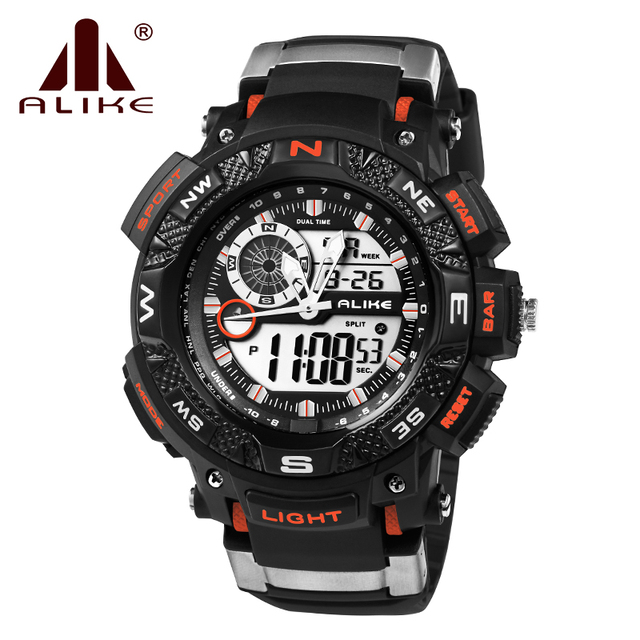 2016 Military Digital Korean Fashion Outdoor Swimming Double Display Watch Waterproof Luminous Multifunctional Male Sports Watch