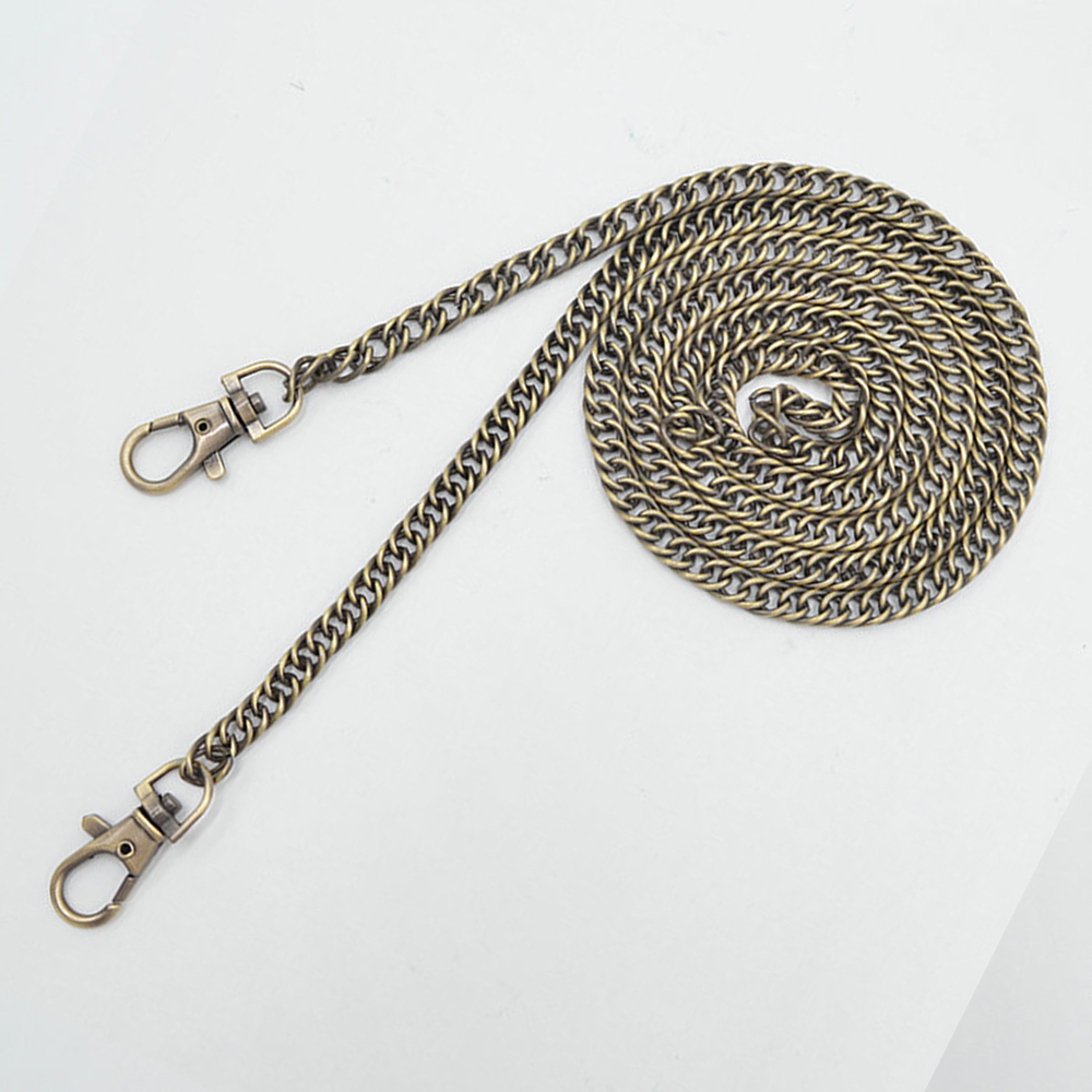 120cm Metal Chain For Shoulder Bags Handbag Buckle Handle DIY Chain Bag Strap Accessories Hardware Double Woven Iron Chain