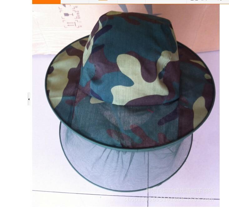 50 шт./лот Fedex Быстрая прогулочный стиль унисекс для взрослых Камуфляж Москитная Hat с сеткой повседневная Рыбалка Hat шапочки