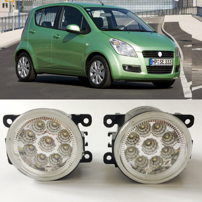 Car Styling LED Fog Light Lamp For Suzuki Splash 2008 2015 9 Pieces Leds
