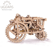 97pcs DIY Wooden Tractor Mechanical Transmission Model Assembly Puzzle Toy for Ugears Gift