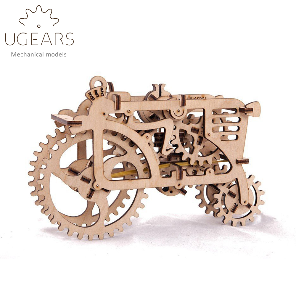 DIY Wooden Tractor Mechanical Transmission Model Assembly Puzzle Toy 97pcs no country for old men