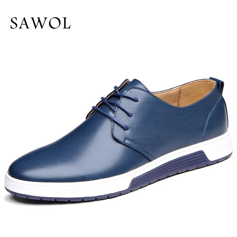 Split Leather Men Casual Shoes Men Sneakers Brand Men Shoes Plus Big Size 47 48 Flats