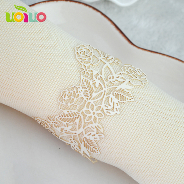 wedding supply towel wrapper decorative laser cut paper wedding