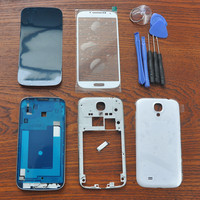 White Full Housing Cover Repair Parts Outer Glass With Black Original Adhesive Tools Home Button For