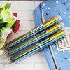 3pcs/Bag 6in1 Ballpoint Pen Multi Color Ball Pen Korean Stationary Marking Pens Office School Supplies