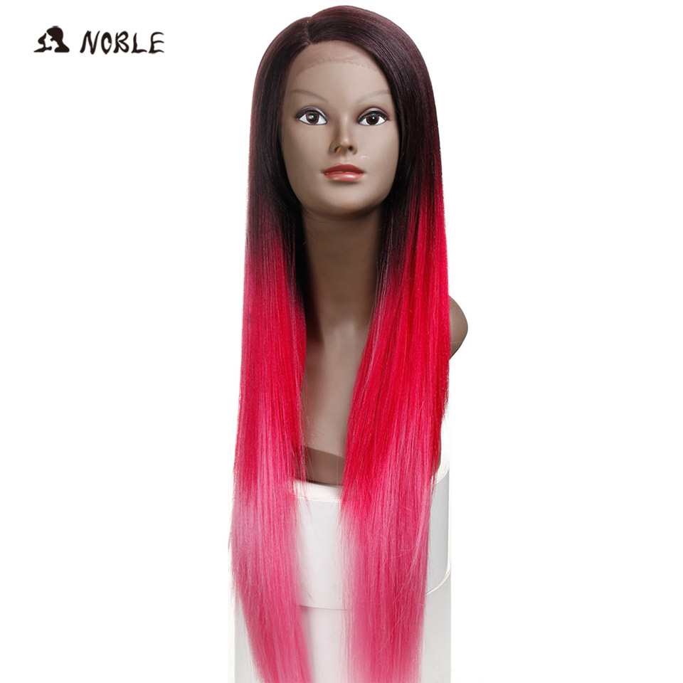 Noble Perruque Cheveux Synthetic Lace Front Wigs 30 Inch Long Ombre Red Wigs For Black Women Heat Resistant Free Shipping