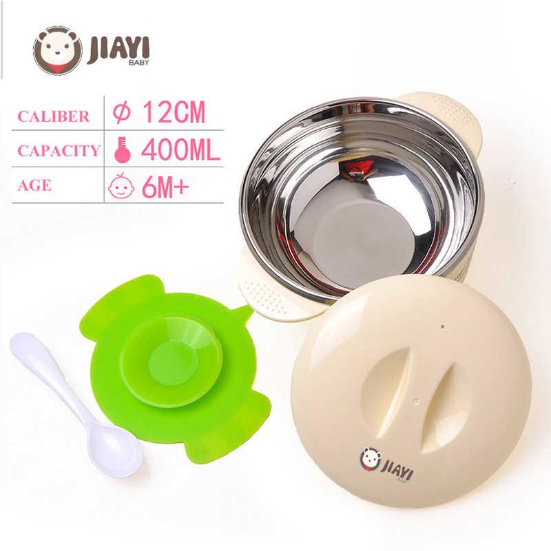 Plato de calentamiento inyección de agua caliente taza de aislamiento de alimentos para niños vajilla de platos tazón vajilla de alimentación de bebé vajilla R1780