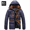 BNY High Quality Winter Jacket Men Brand 2016 Warm Thicken Coat Famous Cotton-Padded Fashion Parkas Elegant Business Plus Size