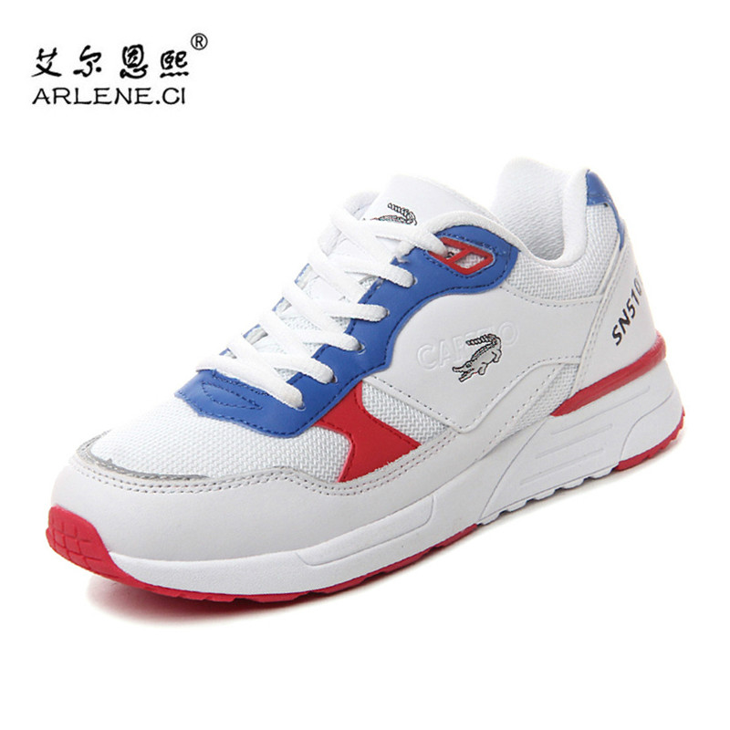 2018 Breathable Women Running Shoes Air Mesh Sport Cushion Damping Sneakers Gym Athletic Training Trekking Genuine Leather Shoes peak sport men outdoor bas basketball shoes medium cut breathable comfortable revolve tech sneakers athletic training boots