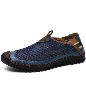 Image 2 - Mocassins en maille respirante pour hommes, nouvelles chaussures dété, confortables et souples, Zapatos Hombre, taille 38 48, chaussures pour hommes