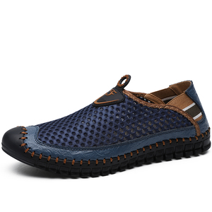 Image 2 - New Mens Casual Shoes Summer Breathable Mesh Mens Shoes Men Fashion Loafers Soft Comfortable Flats Zapatos Hombre  Size 38 48