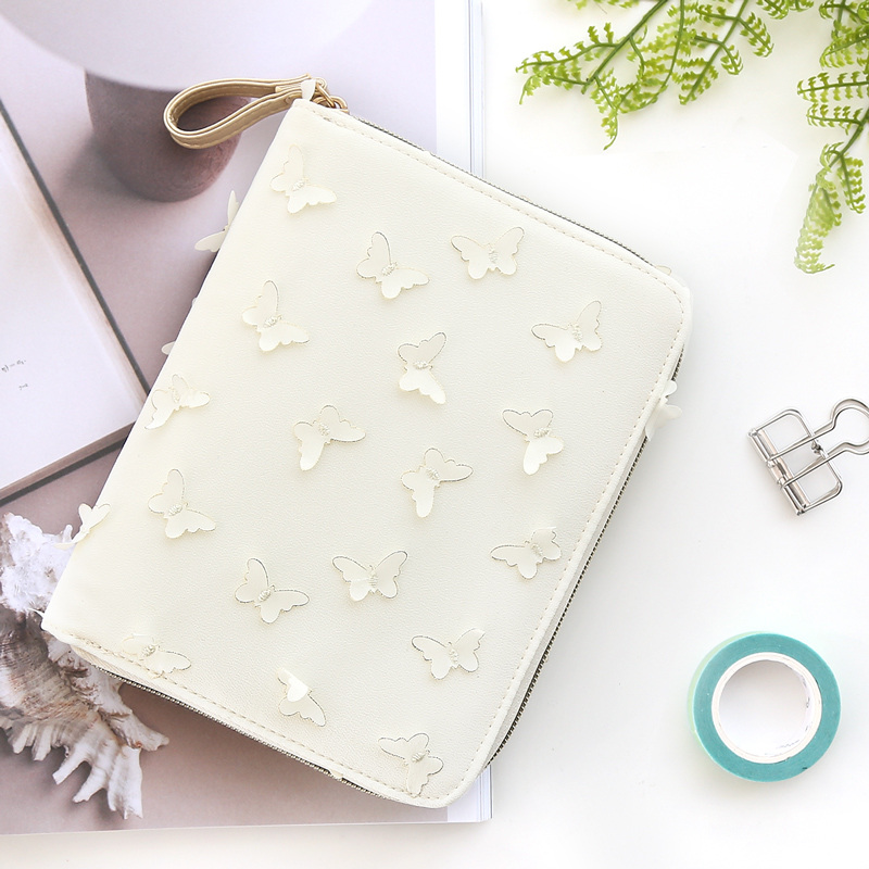 Fashion Book Cover Zip : Kinbor creative butterfly hobonichi style a book inner