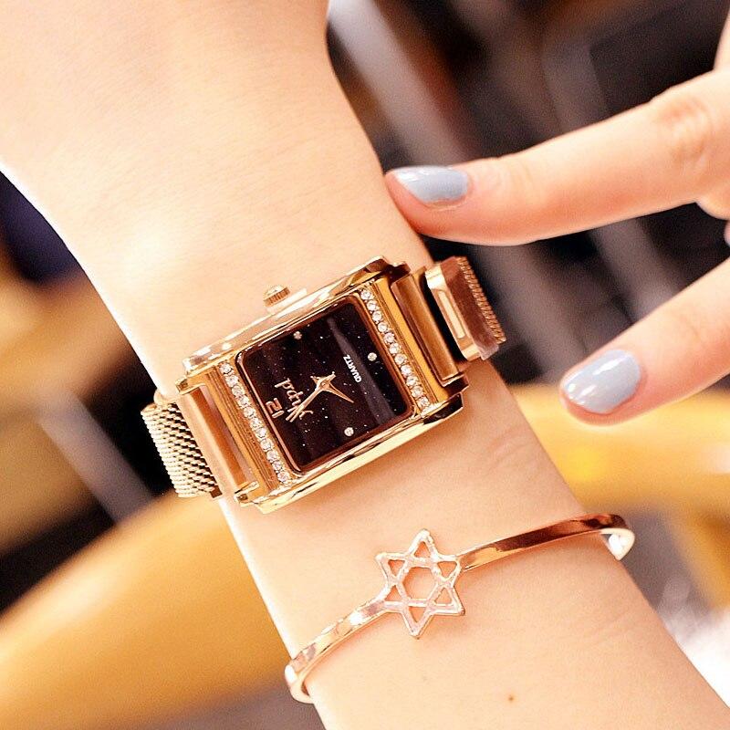 2019 Women Watches Stainless Steel Diamond Wrist Watch Women Casual Quartz Dress Ladies Watch Clock Reloj Mujer Relogio Feminino