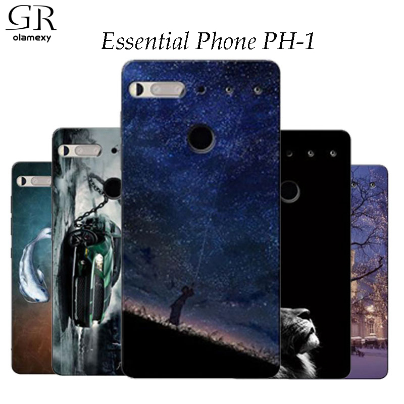GR olamexy For Essential PH-1 Draw Pattern Print TPU Covers for Essential Phone PH-1 Mobile Phone Shell Case Free Shipping bags