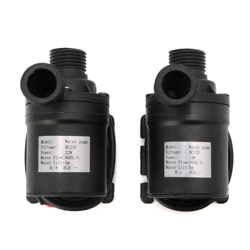 2018 de alta calidad 800L/H 5 M 24 V DC 12 V Solar Motor sin escobillas circulación de agua bomba de agua