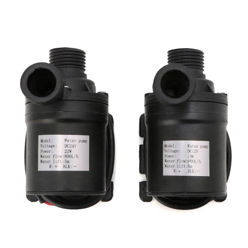2018 de alta calidad 800L/M H 5 M 24 V DC 12 V Solar sin escobillas Motor de circulación de agua bomba de agua