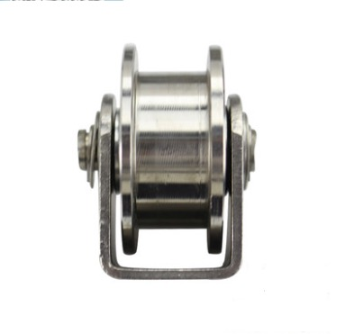 2PCS/LOT Wheel D:48mm (2inch)Stainless Steel H Groove Track Pulley Wheel Bearing Rail Caster Lifting