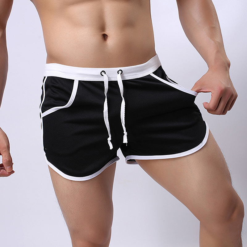 New Men's Beach   Short   Trunks Summer Casual   Shorts   Sexy Mens   Shorts   Quick Dry Clothing Beach Holiday Black   Shorts   For Male