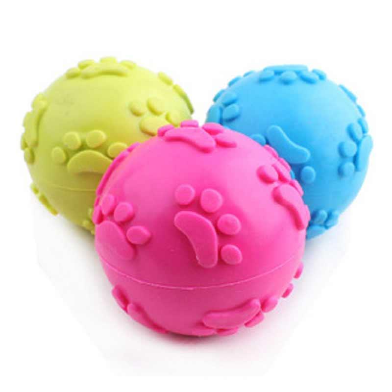 2 шт. Pet Puppy Dog для маленьких собак, Игрушечные лошадки твердого натурального каучука эластичные ПЭТ мяч Игрушечные лошадки Укус устойчивость...