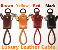 Original Leather keychain 2.4A USB Cable for iPhone 5/5s/6/6s/plus/for ipad for Android Fast charging & Data Transmit Portable