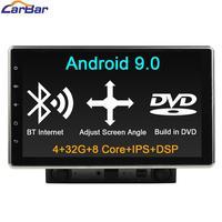 Carbar 10,1 Два 2 Din Универсальный Android 9,0 автомобильный DVD GPS стерео радио навигационный плеер с ips экраном DSP Bluetooth интернет