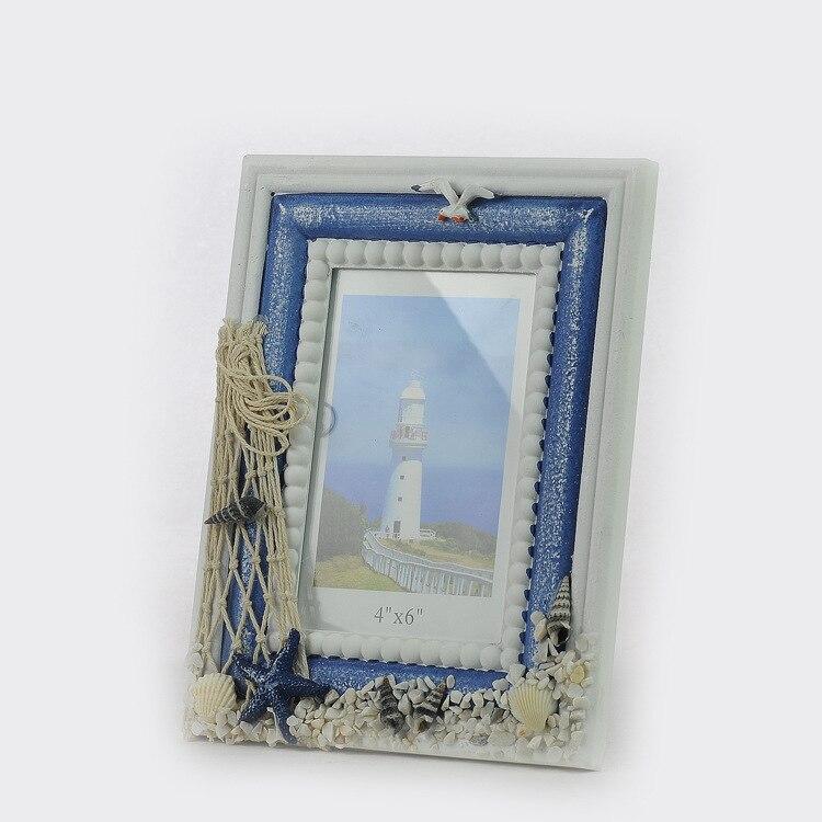 Estilo mediterráneo foto madera Marcos tema del océano regalo 4x6 ...