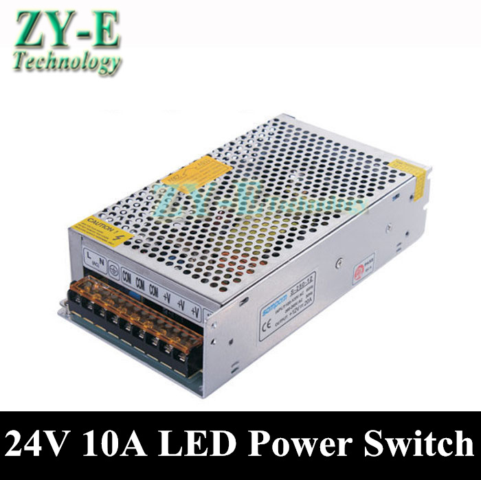 1X 240W 24V 10A led Power supplies Switching Power Supply Driver For LED Strip light Display AC110V-240V To 24V free shipping 240w 12v 20a power supplies switching power supply driver for led strip light display ac110v 240v input 12v output free shipping