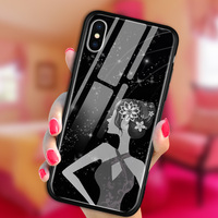 For IPhone X Case Cover Tempered Glass Back Cover 360 Protective Luxury Silicone Sexy Women Shockproof