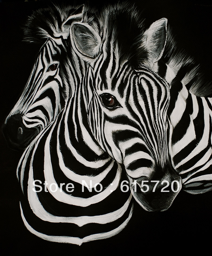 Zebra Stripes Animal Oil Painting Picture Art Giclee Print On Canvas Large  Landscape Wall Decor 24X30inch In Painting U0026 Calligraphy From Home U0026 Garden  On ...