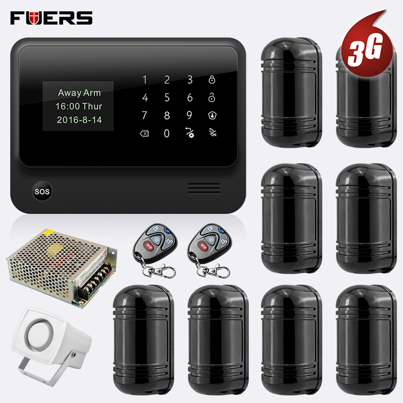 FUERS 2019 NEW 3G G90B Wireless WiFi GSM GPRS Security Alarm System Can Store six Alarm Call Phone two Alarm SMS App Control image