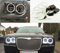 Para Chrysler 300C 2004 2005 2006 2007 2008 2010 Excelente 4 pcs Ultrabright iluminação angel eyes ccfl Angel Eyes de Halo anel
