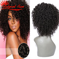 peruvian lace wig glueless full lace human hair wigs peruvian virgin hair wig afro kinky curly Swiss lace 130 % density