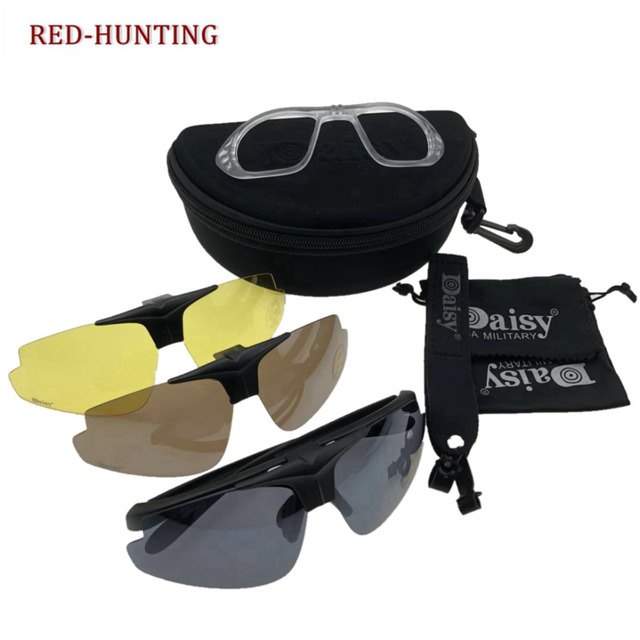 acf11b5f47d Outdoor Sports Daisy C1 Glasses Hiking UV Protection Men Tactical Goggles  Black Frame Eyewear