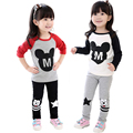 Brand 3-7T Baby Girls Clothing Sets Spring Costume for Girls Clothes Minnie Clothing Long Sleeve Children Clothing for Girls