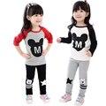 Marca 3 de 7 t ropa de bebé niñas establece traje de primavera para niñas ropa de minnie ropa de manga larga ropa de los niños para las niñas