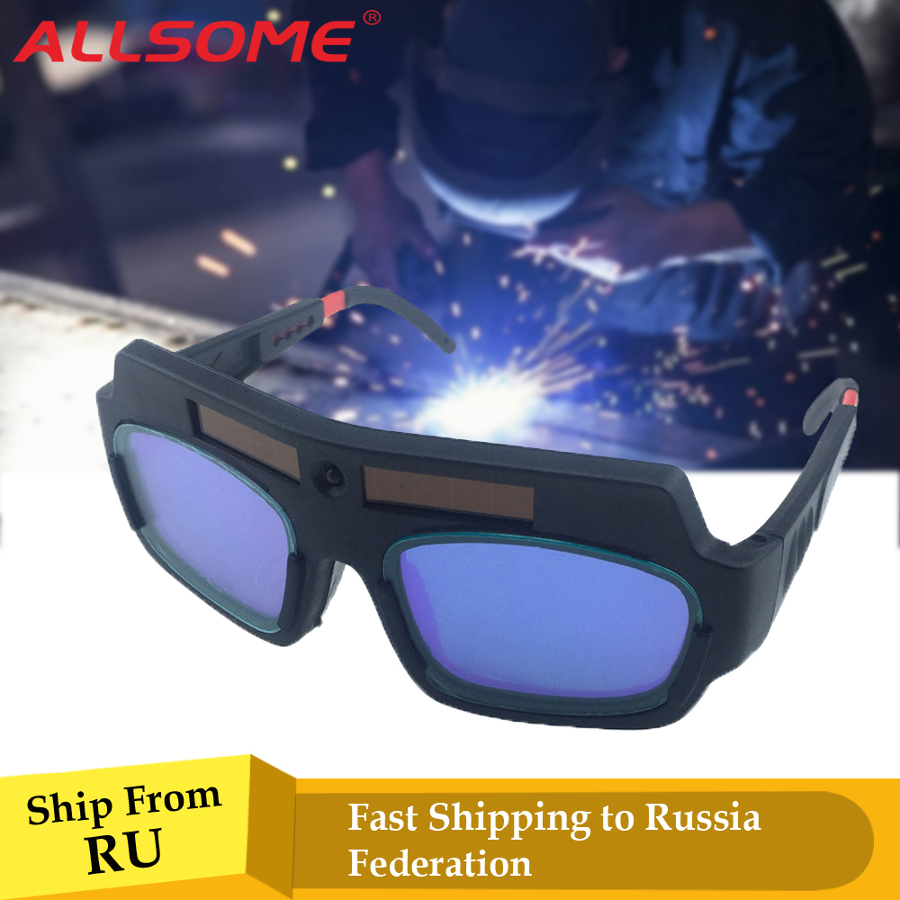 ALLSOME Solar Powered Auto Darkening Welding Mask Helmet Goggle Welder Glasses Arc PC Lens Great Goggles For Welding ProtectionALLSOME Solar Powered Auto Darkening Welding Mask Helmet Goggle Welder Glasses Arc PC Lens Great Goggles For Welding Protection