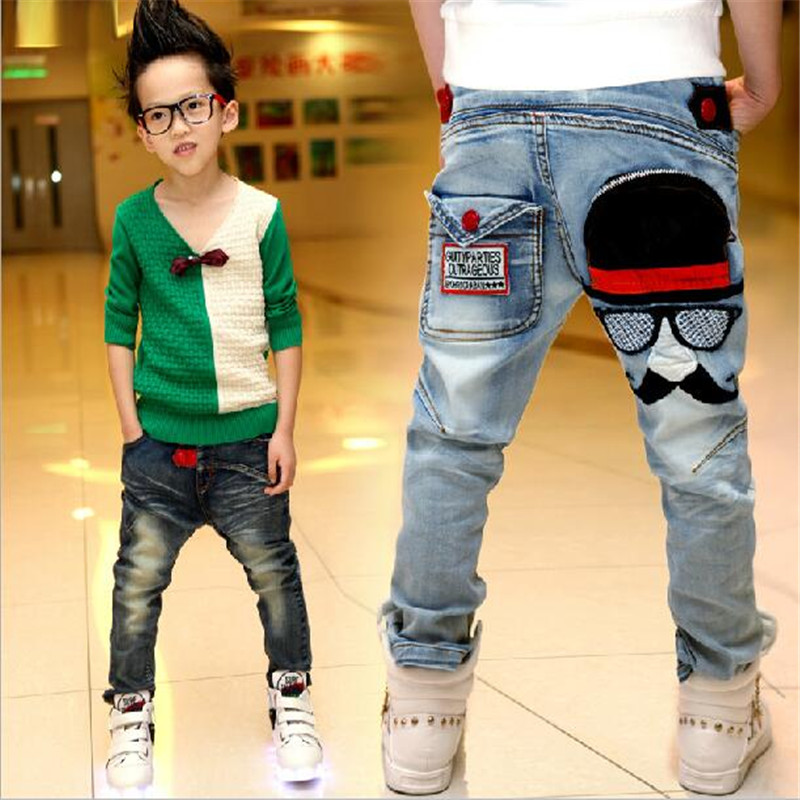 Children's clothing jeans fashion 2016 spring and autumn kids medium-large  for boys jeans trousers hot-selling Fluid Systems