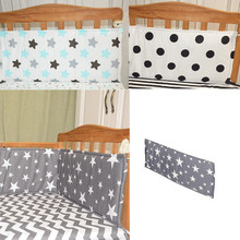 Baby bed bumper 70*28cm(1pcs bumper only) Bumpers In the Crib For Newborn Cotton Linen Cot Bumper Baby Bed Protector Grey